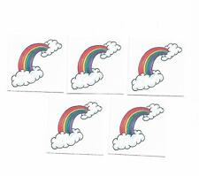 5 x Cute Rainbow Temporary Tattoos - Kids Party Favours