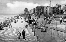 POSTCARD     SUSSEX   ST  LEONARDS   The  Promenade  and  Warrior  Square