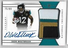 2017 National Treasures Dede Westbrook On Card Auto 4 Color Patch Rc 75/99