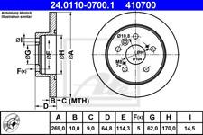 Disque de frein (2 pièces) - UAT 24.0110-0700.1
