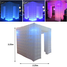 2.25m LED Color Bulb Inflatable Photo Photography Booth Enclosure Two Door UK