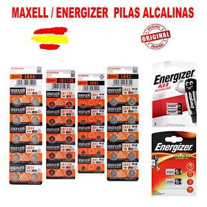 PILAS BATERIAS ALCALINAS MAXELL LR41 LR1130 LR43 LR44 A23 ZA10 LR1 BOTON 1,5 V
