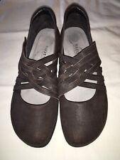 NAOT Kawaka Woven Strap Brown Mary Janes Flats Size 38 / US 7-7.5 Shoes