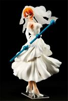 New One Piece Anime Action Figures White wedding dress Nami Toys No box Gifts