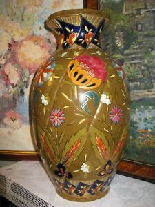 Very Large Aesthetic Movement Fischer Budapest vase C1890 (Zsolnay interest)