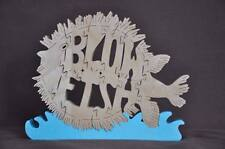 Blow Fish Puffer Wooden Fish Puzzle Amish Scroll Toy  New