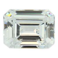 Loose Emerald Cut Clear CZ Stone Single Cubic Zirconia Birthstone Best Quality