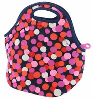 Built NY Gourmet Getaway Reusable Insulated Neoprene Lunch Tote, Dot Candy Navy