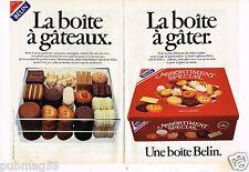 Publicité advertising 1984 (2 pages) La boite à Gateaux Biscuits Belin