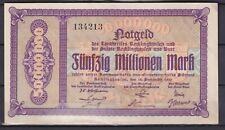 Recklinghausen / Buer  -  Stadt- u. Landkreise  -  50 Millionen Mark