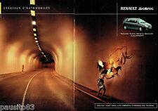 PUBLICITE ADVERTISING 026  2001  Renault  le nouveau Scénic (2p)