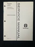 New Holland Tractor 1215 Service Manual Supplement 1120,1220 *1393