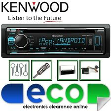 Ford Fusion 2004-14 KENWOOD CD MP3 USB AUX Argento Fascia Autoradio Kit di aggiornamento