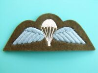 ORIGINAL BRITISH ARMY BASIC CLOTH PARACHUTE BADGE AIRBORNE WINGS PARACHUTIST