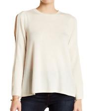 NWT Joie  Amalyn Split Shoulder Wool Blend Sweater PORCELAIN  Sz L  $298