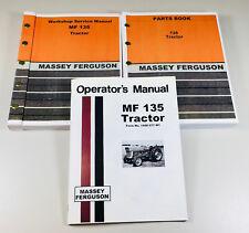 Massey Ferguson 135 Tractor Factory Service Parts Operators Manual Shop Oh Set
