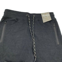 New Hollywood Men Jogger Casual Pants Drawstring Choose Size Black