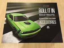 "2015 DODGE CHALLENGER Accessories ""Teaser"" 2-page Original Sales Brochure"