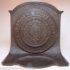 Antique Syracuse University Cast Iron Bookend Metal Doorstop Cs&C Co ornate