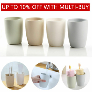 Thick Circular Bathroom Toothbrush Holder Tooth Mug Tumbler Toothpaste Cup✅