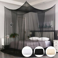 Black White Mosquito Fly Insect Net Bed Netting Single Double King Size Bedding