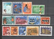 S6669 - ZAMBIA 1964 - LOTTO DIFFERENTI DELL'ANNATA - VEDI FOTO