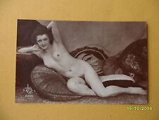 Original 1910's-1920's Postcard Nude Risque Woman Laying Down #32