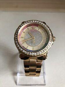 Juicy Couture Ladies' Pedigree Gold Multi Stone Bracelet Watch.