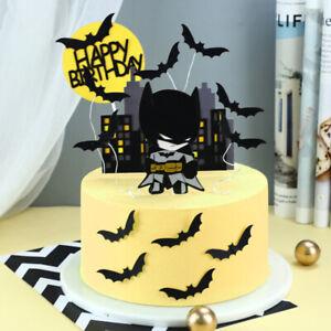 Batman Party Supplies Cake Topper Birthday Cartoon Party Decoration