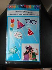 NIP Birthday Photo Props Hat Happy Birthday glasses Ball fun Party Pictures