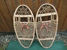 "Interesting VERY OLD Snowshoes 30"" Long x 13"" Wide with  Webbing"