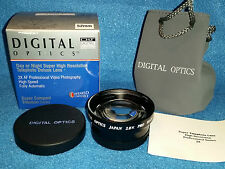 NEW-52mm-2X AF Telephoto Lens-Day/Night-Super Compact-Titanium-Camera or Video