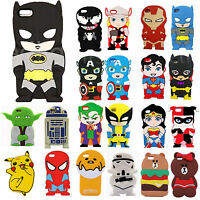 3D Cute Cartoon Silicone Soft Skin Back Case Cover For iPhone 4S 5S 5C 7 7 Plus