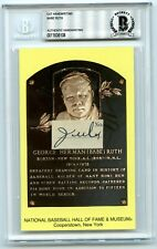 "Babe Ruth "" July "" Signed Handwriting HOF Plaque BAS Beckett BGS"