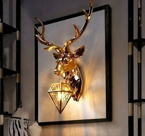 Modern Deer Antler Scone Nordic Resin Wall Lamp Living And Bed Room Light