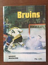SIGNED Boston Bruins Official Program 12/13/1973 vs. Minnesota North Stars