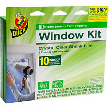"Plastic Shrink Film Indoor Window Kit 62"" x420"" Heat Insulation Draft Clear Wrap"