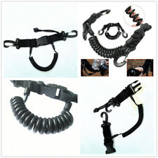 Scuba Diving Dive Spring Coil Camera Lanyard & Quick Release Buckle Clips