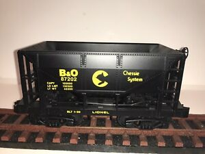 G Scale Lionel Hopper B&O Chessie System - Used