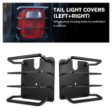 Black Metal Tail Light Guards Covers Protector For Jeep Wrangler 1987-2006 TJ YJ