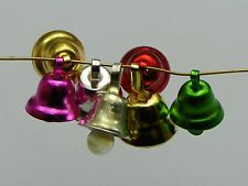 100 Mixed Color Christmas Jingle Bells Charms Pendants 11mm for Craft DIY