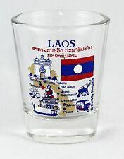 LAOS LANDMARKS AND ICONS COLLAGE SHOT GLASS SHOTGLASS