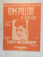 Tom Pillibi - Terry Van Ginderen sheet music  Eurovision Winner 1960 in Dutch