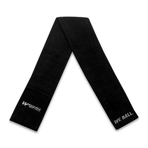Black Streamer Football Towel By We Ball Sports || Worn By Over 100 NFL Players