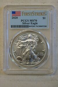2020 Silver Eagle PCGS First strike MS 70