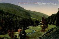 Ilmenau Thüringen Color Postkarte 1929 gelaufen Partie aus dem Schorte Tal Bach