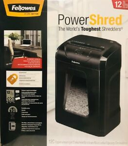 Fellowes Powershred 12C 12-Sheet Cross-Cut Professional Paper Shredder 2021 Stoc