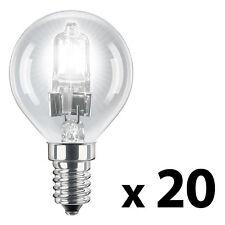 20 x SES E14 Energy Saving 42W   60W  Eco Halogen Clear Golf Ball Globe Bulbs