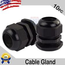 10 Pieces Pg29 Black Waterproof Connector Gland Grommet 18-25mm Dia Cable Ul Us
