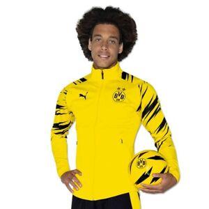 NWT Puma Borussia Dortmund BVB Stadium Track Jacket Yellow Mens Size Medium $90